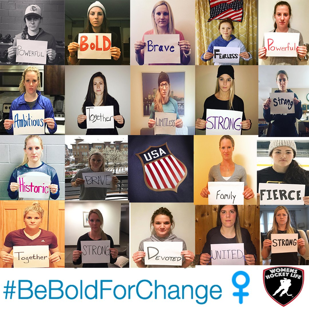 USA Women's Hockey Team #BeBoldForChange