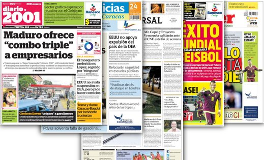 #24Mar Estas son las portadas de los periódicos nacionales y regionale...