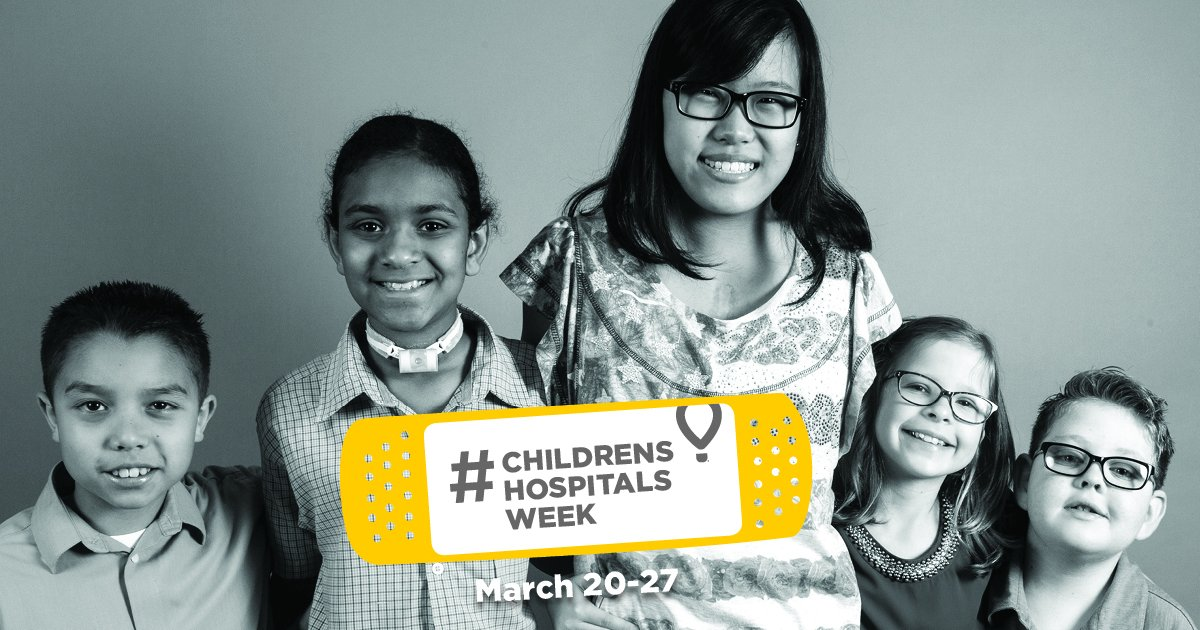 Catch the first ever #ChildrensHospitalsWeek Live-athon today at 10 a....