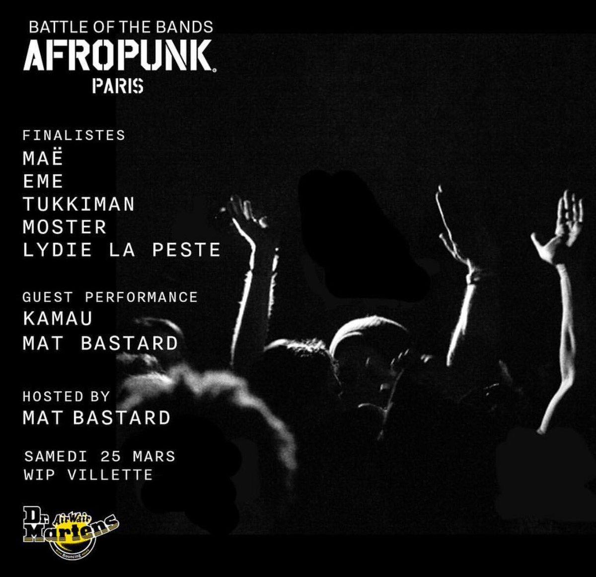 [ @afropunk ] On se retrouve demain au WIP VILLETTE pour un showcase en formation spéciale, dès 18h30... #electro #hiphop #live #afropunk<br>http://pic.twitter.com/lndDIYSQMh