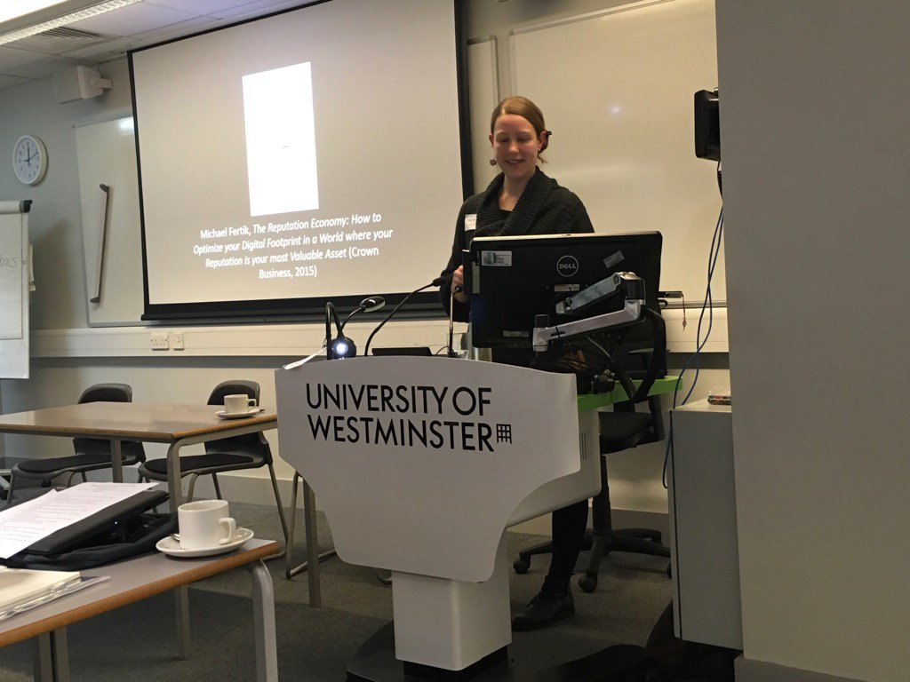 Dr Emily Rosamund discusses how the power of online reputation can affect academics #AHSSmetrics https://t.co/50TsfyVmTJ