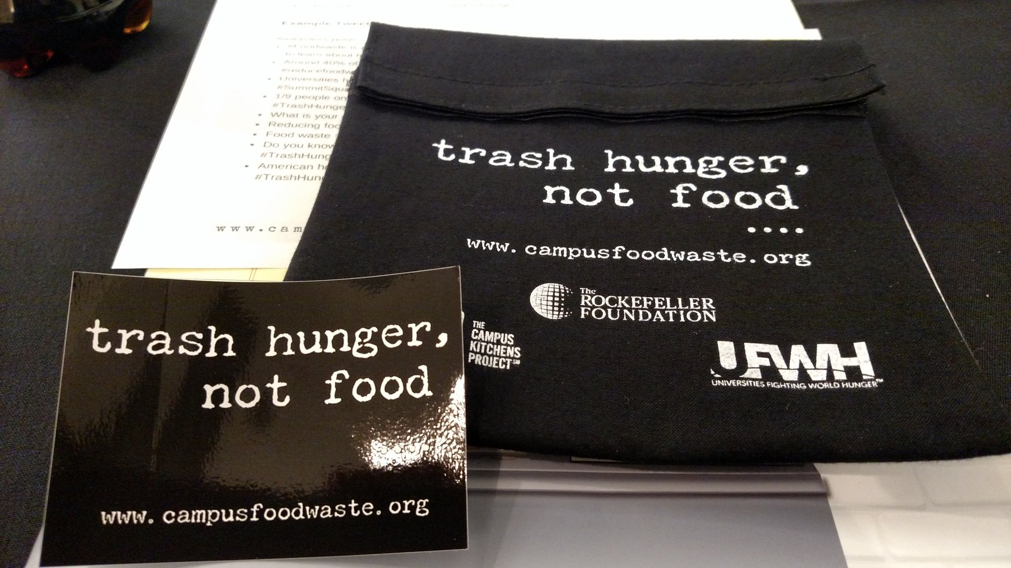 RT @Just_LynetteJ: The Trash Hunger, Not Food campaign to end campus food waste debuts at #summitsquared! https://t.co/3eRJ2CD10V