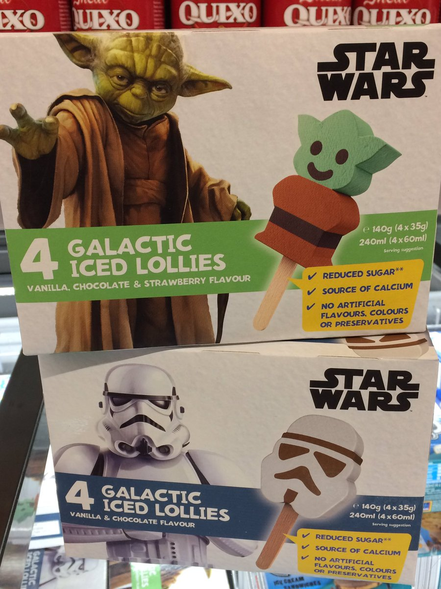 Awesome new #StarWars character iced lollies found in @AldiUK #Aldi today. #Yoda #Stormtrooper @UKToyCollector @StewartGardiner @markyj71<br>http://pic.twitter.com/1tILpd5tId
