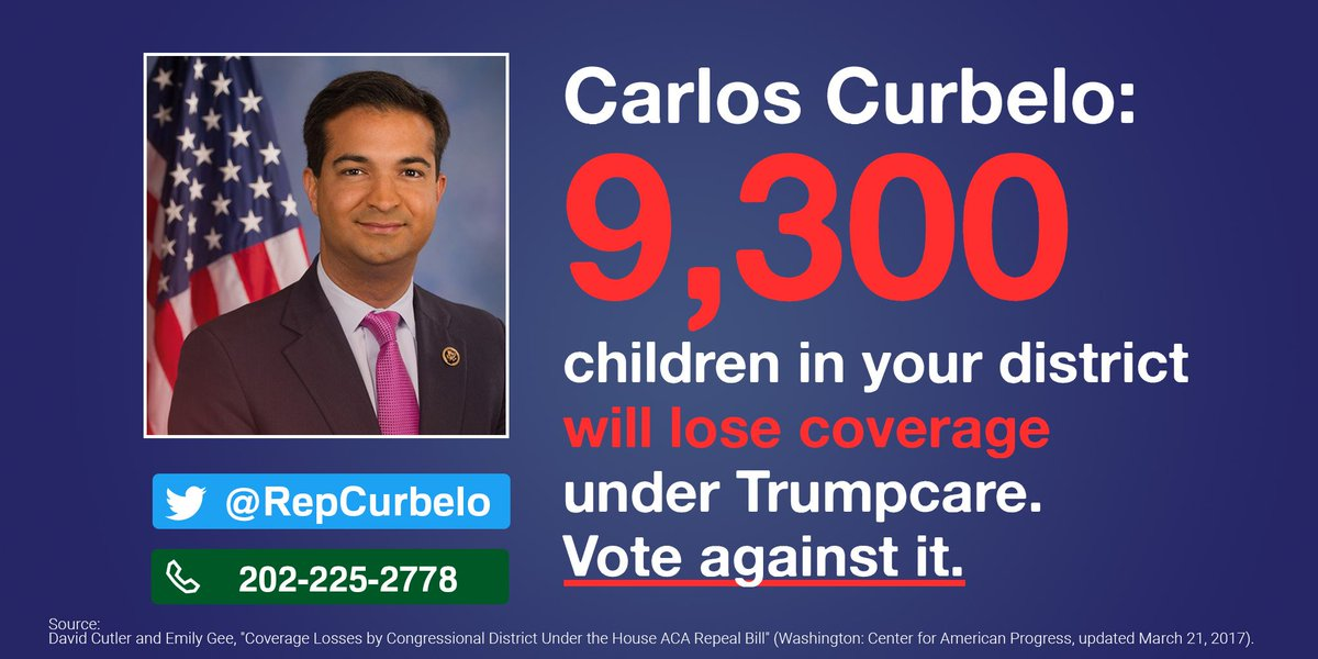 TODAY! #StandWith24M & demand @RepCurbelo vote NO on #Trumpcare. C...
