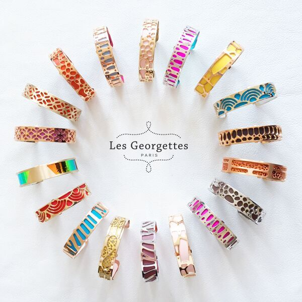 One bracelet is simply never enough! Stack up your #ArmCandy for a trendy look. #LesGeorgettes #latestcolors