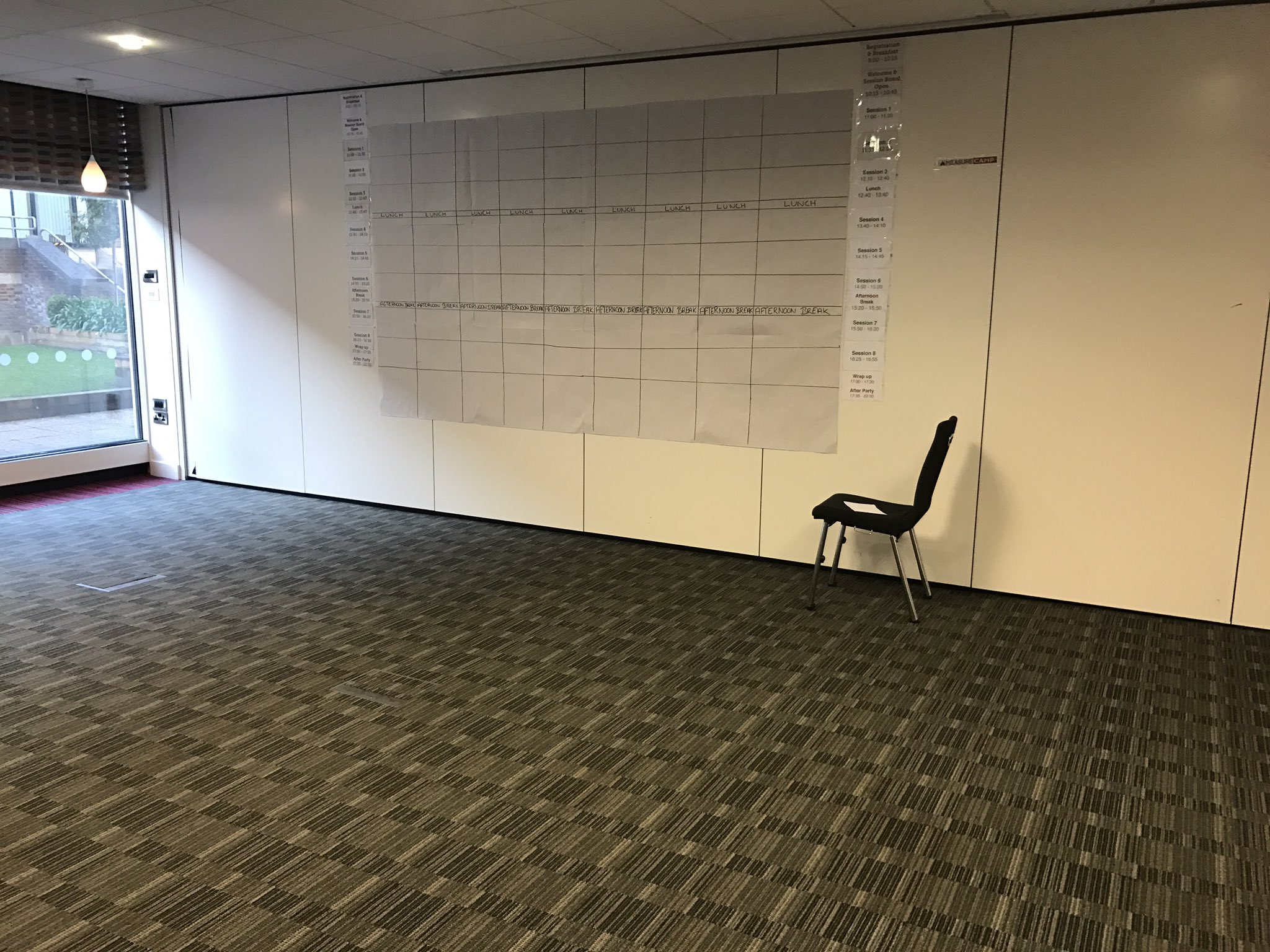 The #measurecamp session board is almost ready... Time to plan where your session is going to go!! https://t.co/pt6JdSnb9A