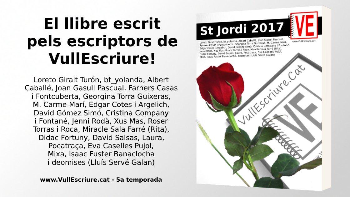 El llibre de #SantJordi de la 5a temporada de #VullEscriure ja és a la impremta! Felicitats escriptors 😊📝🐉🌹 https://t.co/vw4W7Ae2CP https://t.co/ZUmCoWeb8h