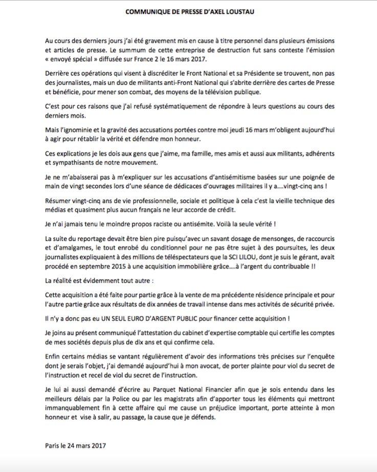 Ma réponse à la campagne de dénigrement et l&#39;ignoble reportage d&#39;#EnvoyéSpécial diffusé sur @France2tv la semaine dernière !<br>http://pic.twitter.com/IfW3ZBNT7w