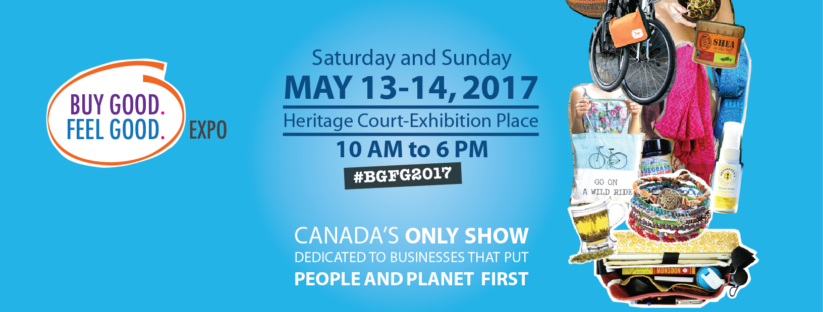 Hey #Toronto, see you at the Buy Good. Feel Good. Expo May 13-14! https://t.co/zTuhOut5JI @TFTS2014 https://t.co/PcnuwBMIAP