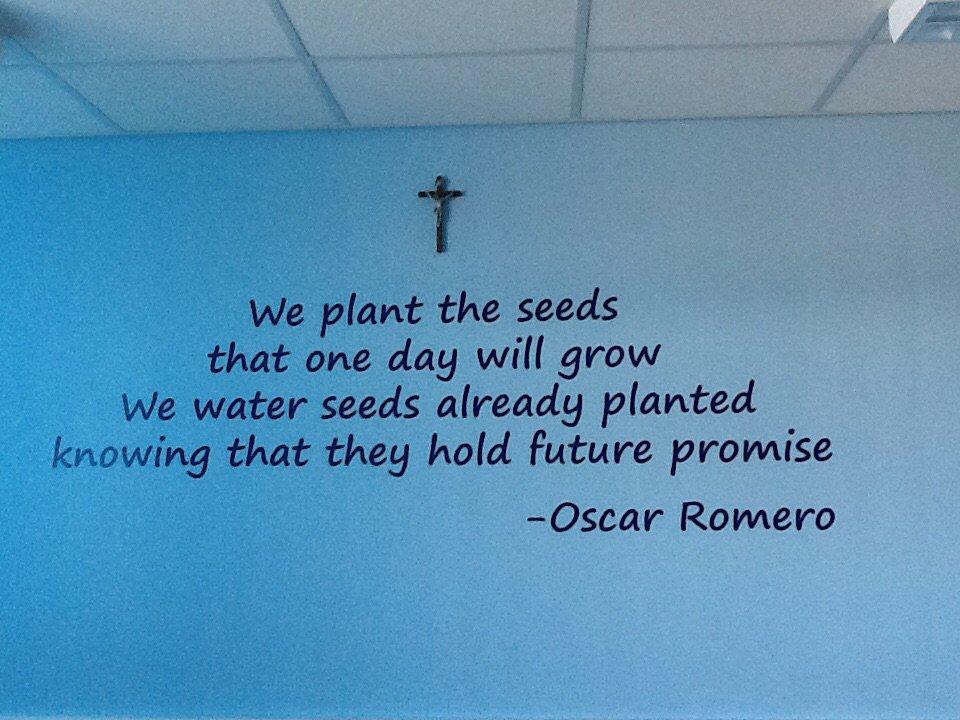 We plant the seeds... #OscarRomero @CovCatholicSch  @Romero_MAC_