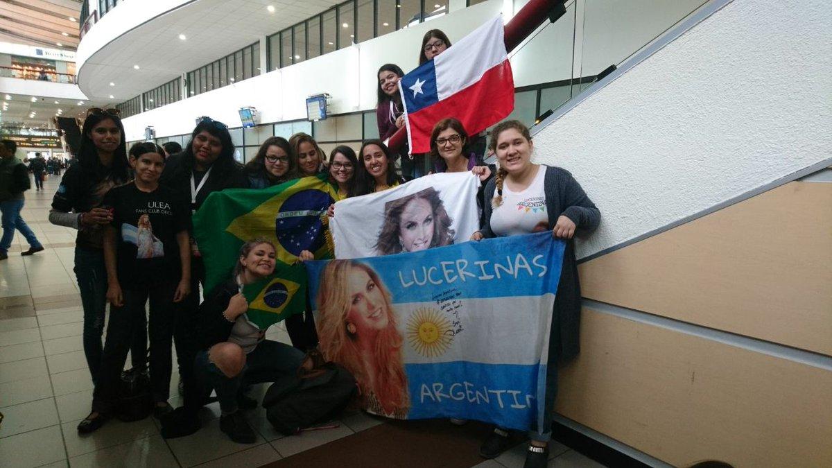 Argentina y Brasil dicen presentes en #Chile para ver a @LuceroMexico...