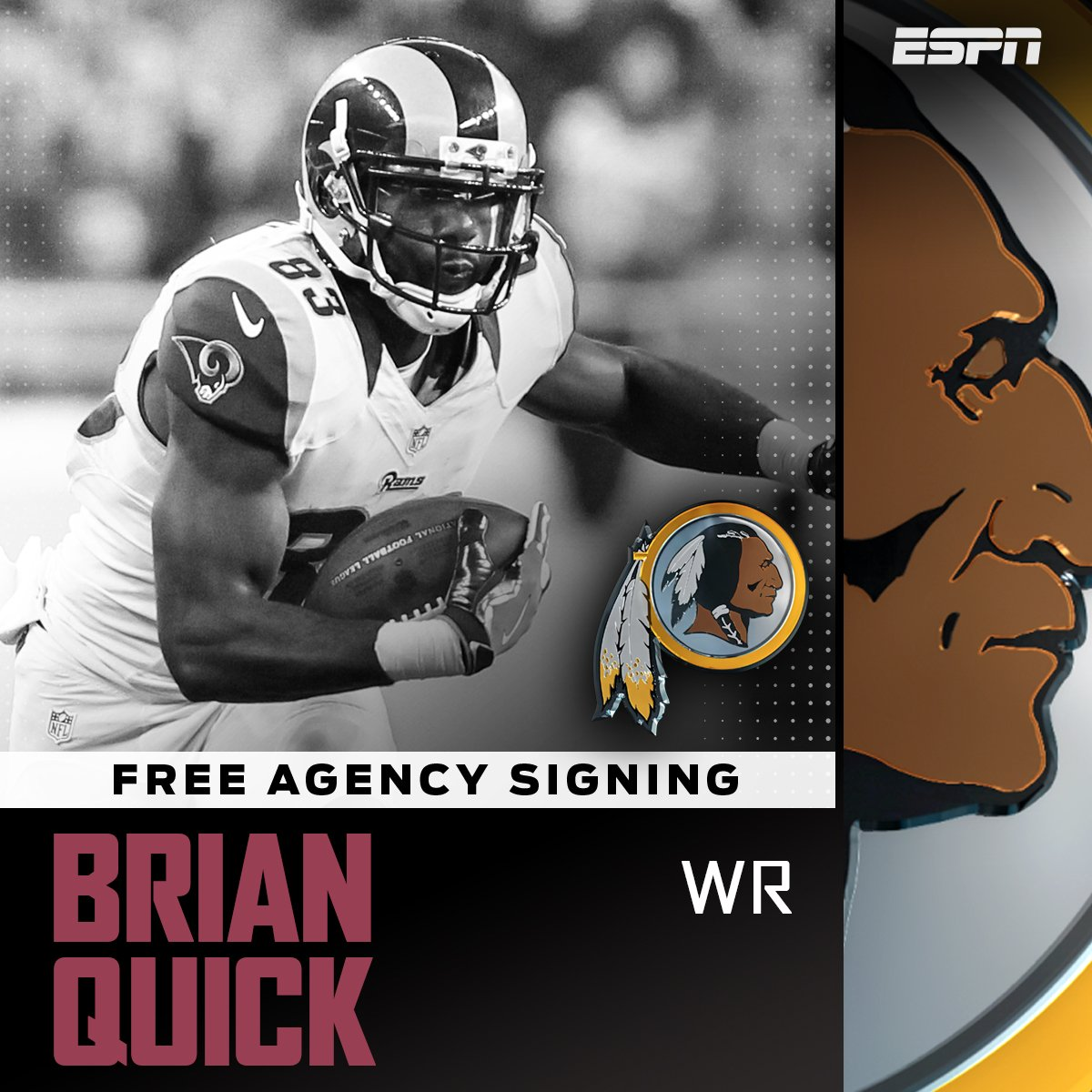The Washington Redskins have agreed to a contract with former Rams WR...