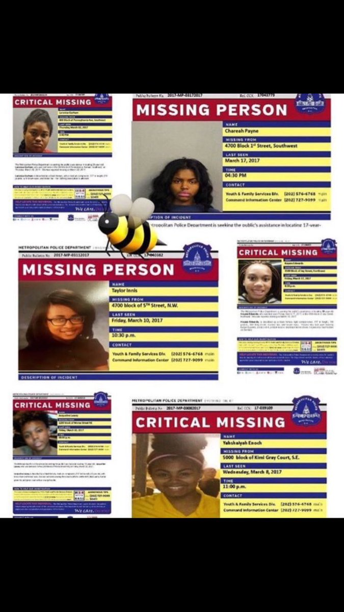 Please use your voice for one second and help get these 14 girls back home. #missingdcgirls