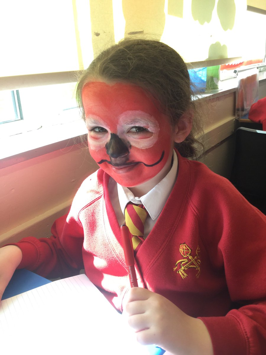 Miss Devine is struggling to take some of her class seriously this afternoon. She appears to be teaching a class of red noses! #rednoseday