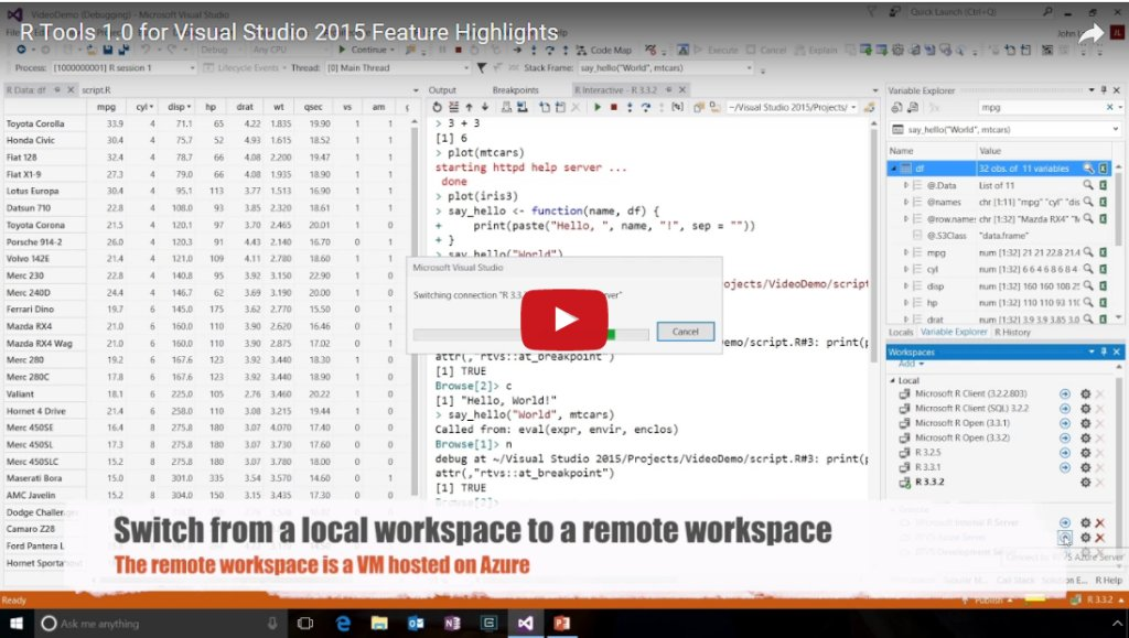 Announcing R Tools 1.0 for #VisualStudio 2015 https://t.co/lUpi9YrWyN...