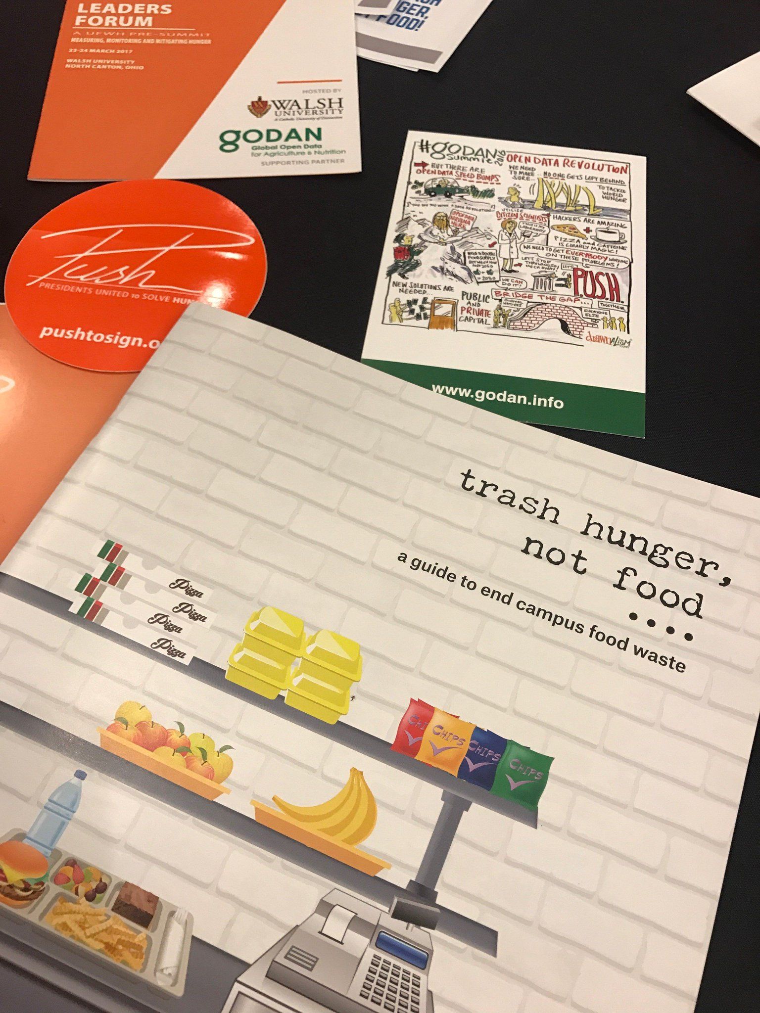 #SummitSquared at @WalshUniversity today+tmrw. Students leading fight against #foodwaste on campuses w/ new #TrashHungerNotFood toolkit! https://t.co/2eNyVnLM3w