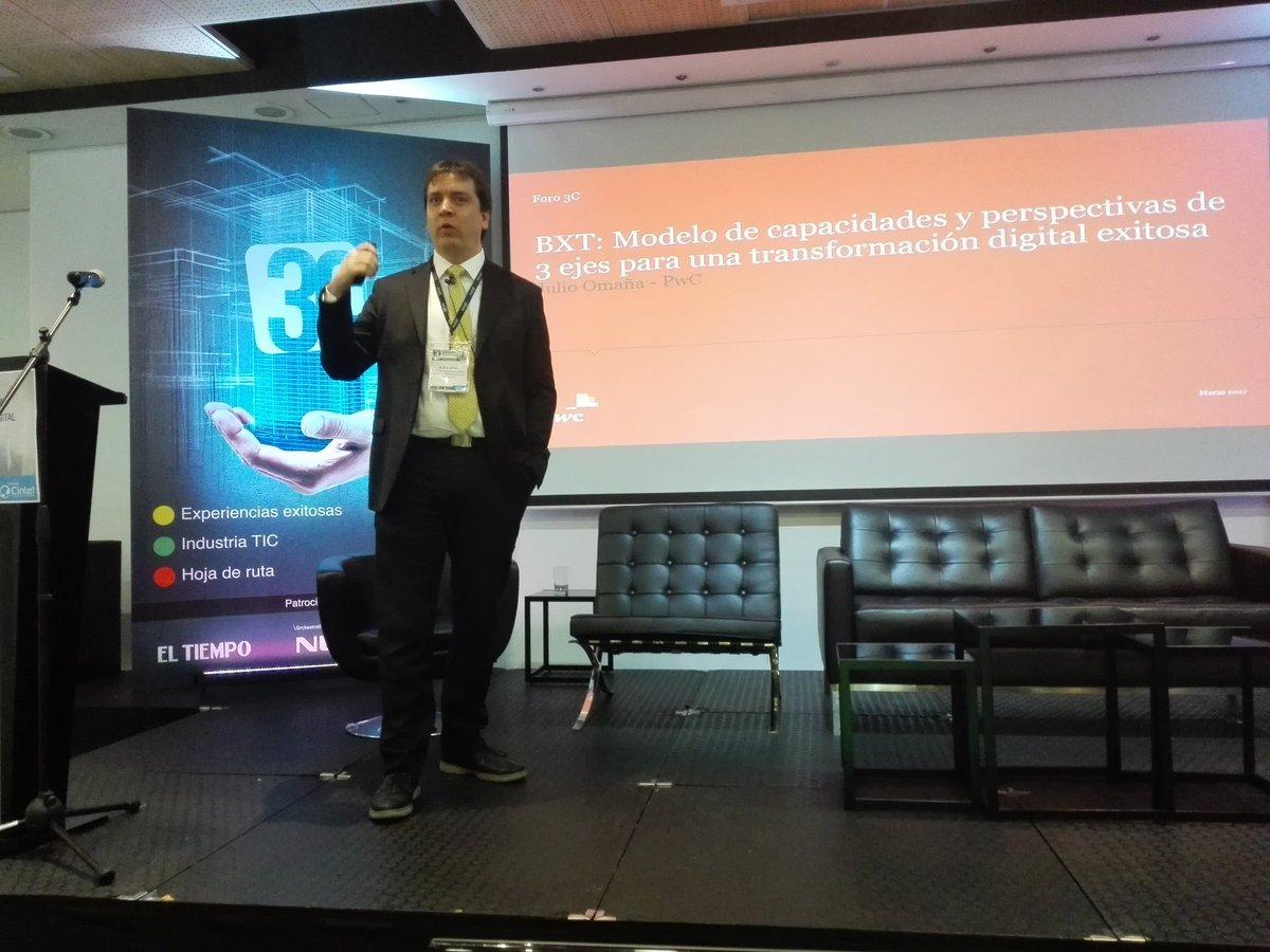 Julio Omaña, @PwC_Colombia en #Foro3C de @CINTELColombia #TransformaciónDigital https://t.co/JuGvIJ7dIO