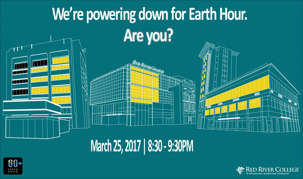 Red River College On Twitter Rrc Is Powering Down For Earth Hour Before You Leave For The Weekend Shut Down Computers Unplug Electronics And Turn Off Your Lights Https T Co 9gh5bojcvg