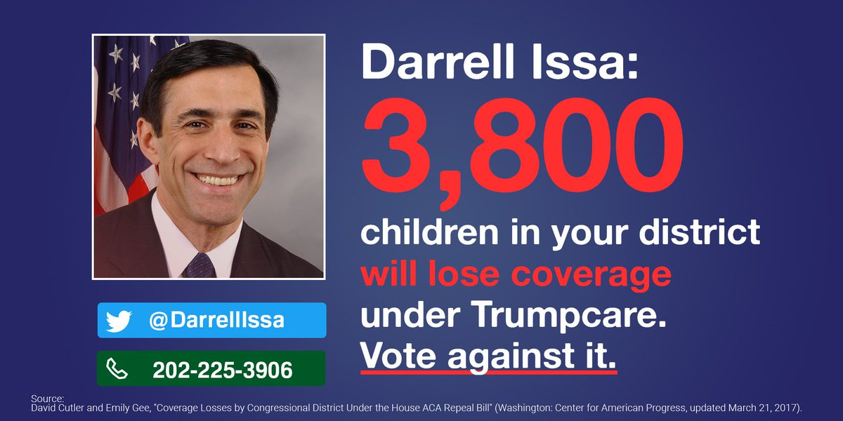 Demand @DarrellIssa #KillTheBill & #ProtectOurCare: CALL 855-981-7...