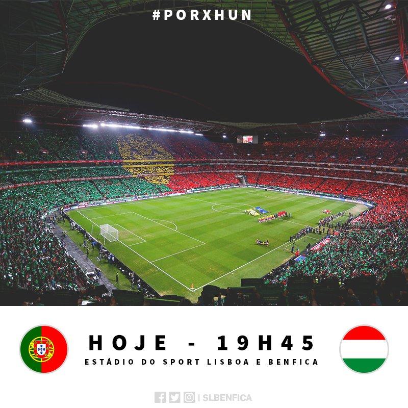 Dia de @SelecaoPortugal no Estádio do Sport Lisboa e Benfica! 🇵🇹 #PORxHUN