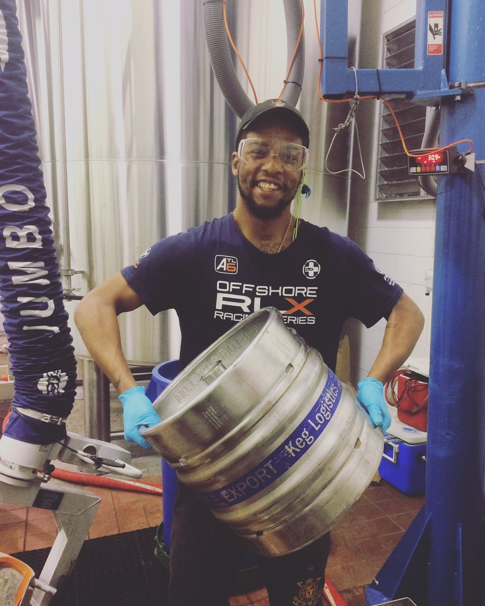 Rasheem just filled our first keg destined for export! Optimal Wit and Monumental IPA are London-bound!