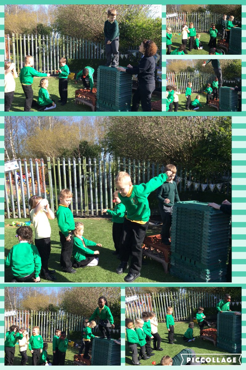 Friday fun!  Reception children showing how safe they can be when climbing and jumping. #growingup