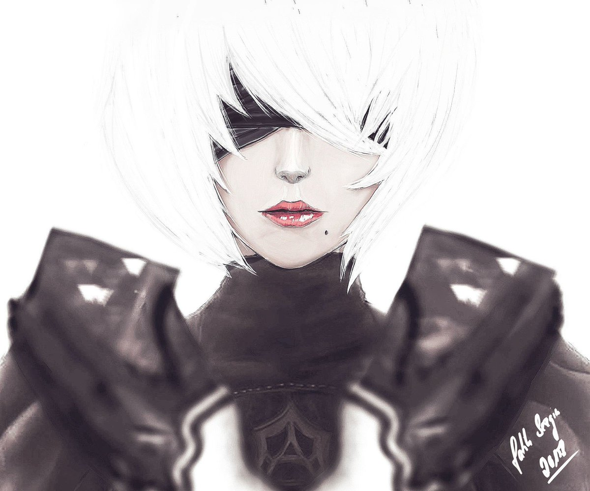 A different style of 2B fan art for #FanArtFriday today by @yartesy!<br>http://pic.twitter.com/d0laFDxbWa