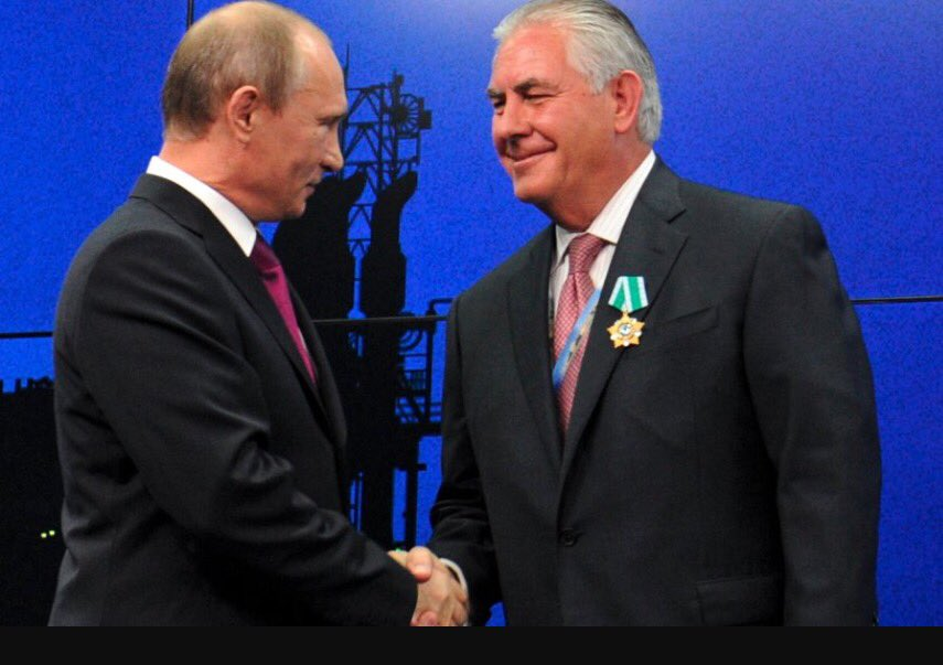 #FlashbackFriday to when #trump sec. state #RexTillerson received #russian &quot;order of friendship&quot; medal from #putin.  #russiagate #trumptaxes<br>http://pic.twitter.com/jrqeYNpJK0