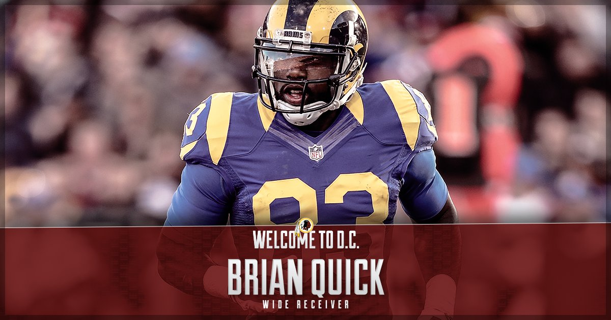 #Redskins sign WR Brian Quick.  Welcome to D.C., @Bquick_SC!  📰: https...