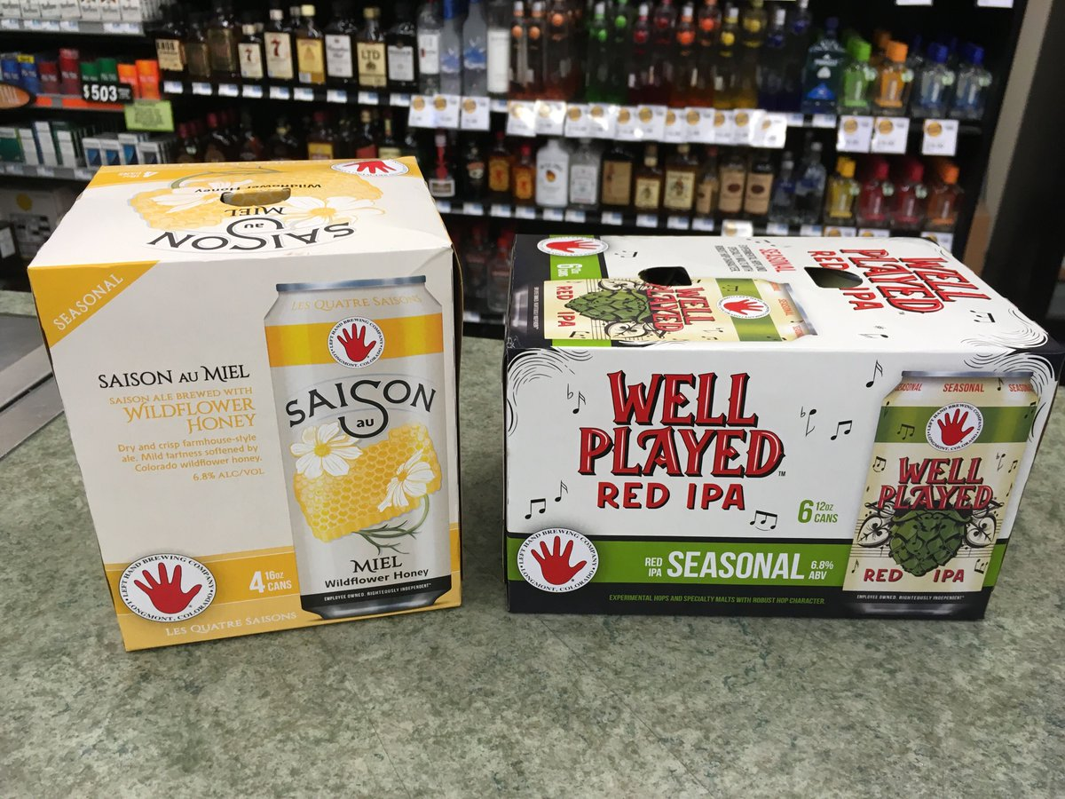 More new brews just hit the shelf from @LeftHandBrewing! Saison au Mie...