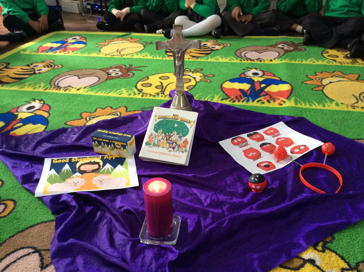 This morning during RE, Reception thought about the people we can help during Lent. #Lent #PrayFastShare