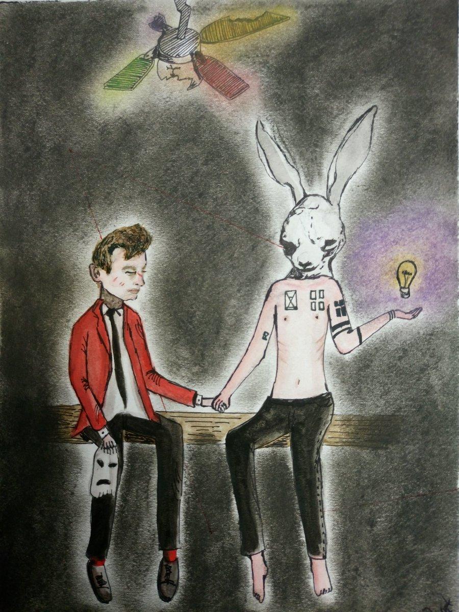 ..;;;:: Death inspires me like a dog inspires a rabbit ;;;;... #cliqueart #FanArtFriday #twentyonepilots  @tylerrjoseph @thedavidthedad<br>http://pic.twitter.com/5n826qJSKP