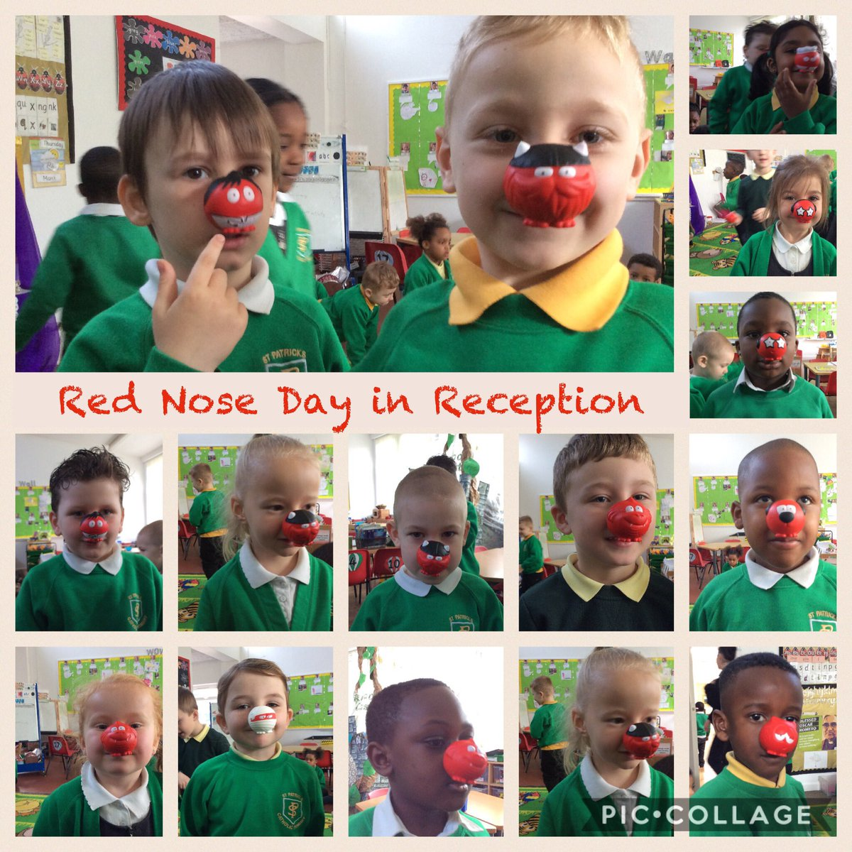 Thank you to all of the children and their families who supported @rednoseday @rednosedaysch by buying a Red Nose today! #RedNoseDay