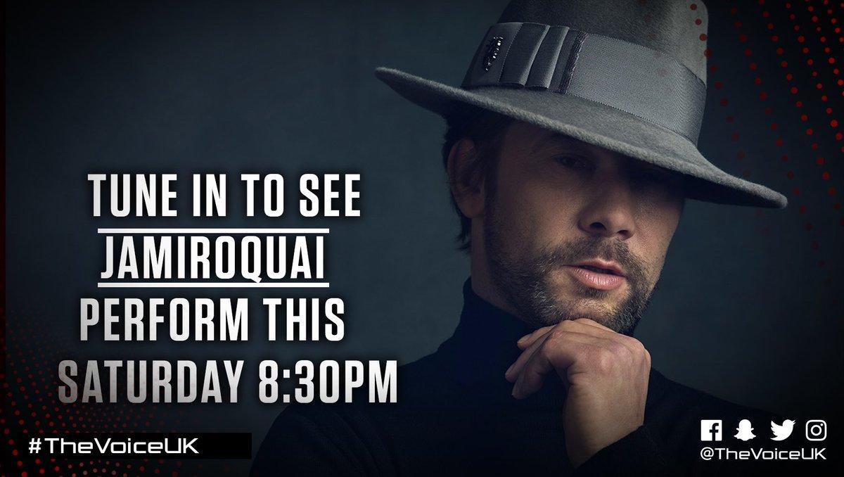 Look who's joining us on #TheVoiceUK tomorrow, it's @JamiroquaiHQ! We'...