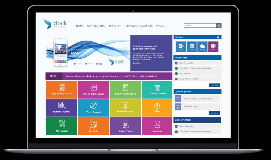 Dock SharePoint Intranet Portal