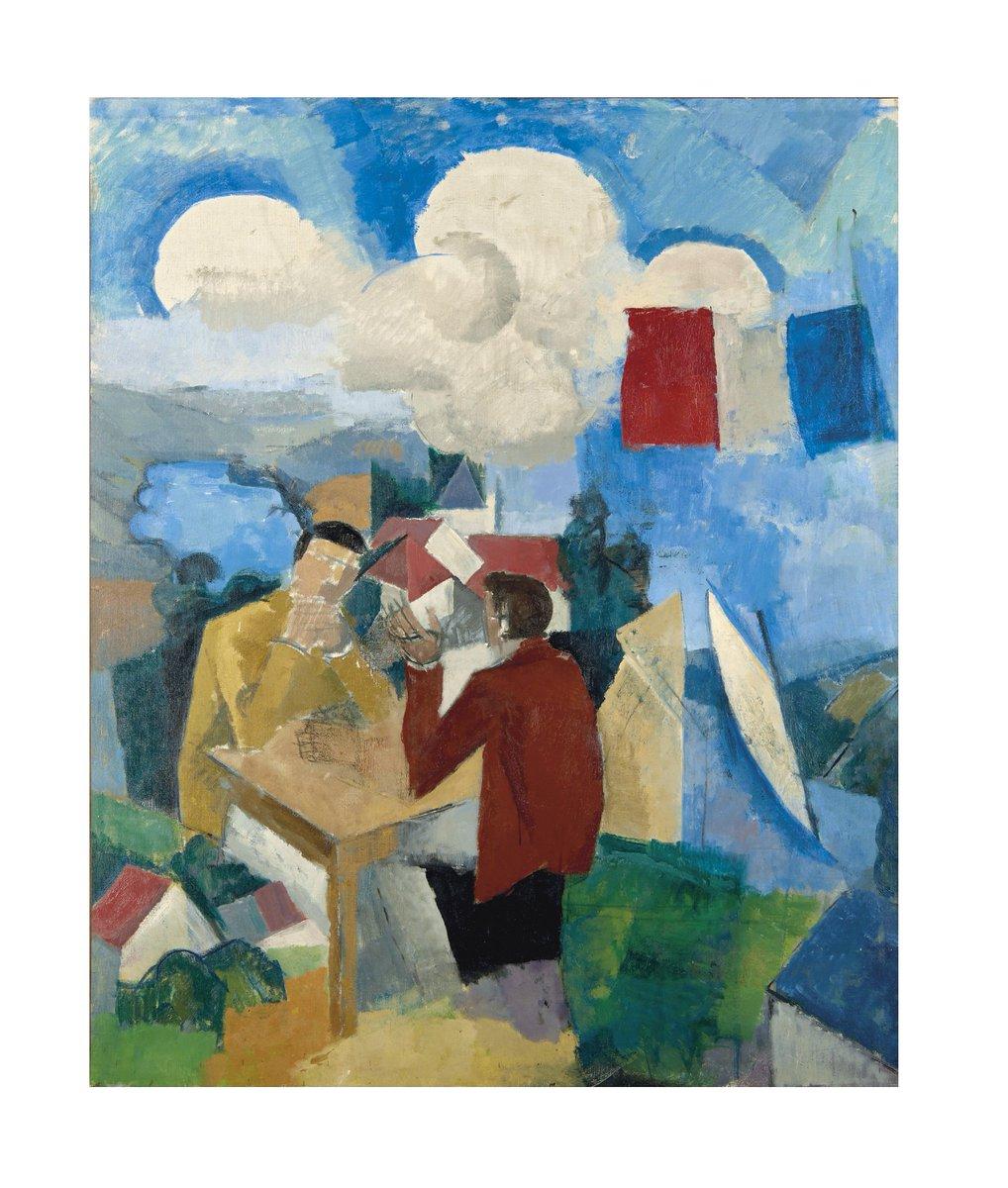 #Masterpiece : estimée 1 000 000-1 500 000 €, La Conquête de l'air par Roger de La Fresnaye vient d'être adjugé 2 370 500 € #ChristiesParis<br>http://pic.twitter.com/qc0GjDXrMz