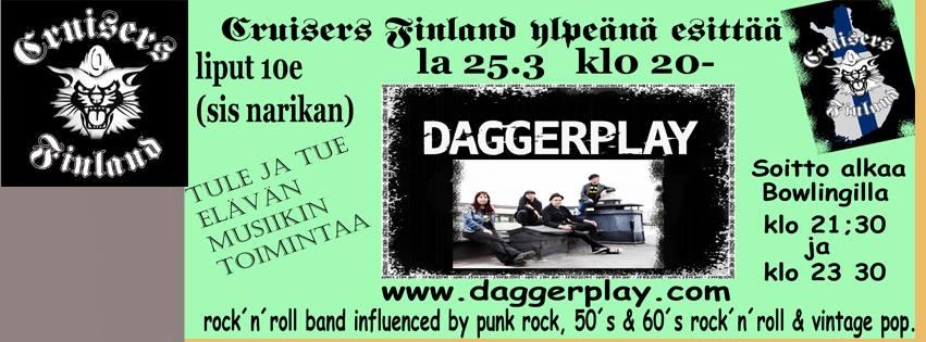 #Daggerplay at Bowling House. #Cruisers #Finland #rocknroll #Suomi #Nurmijärvi #helsinki2017 #punk #country #weekend<br>http://pic.twitter.com/iTGsMMLgCb