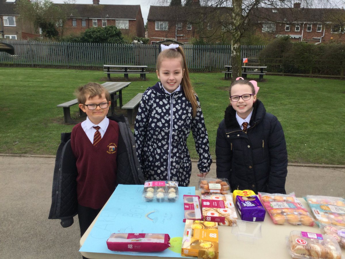 Well done to the Y4s who ran Lenten charity stalls at playtime today!