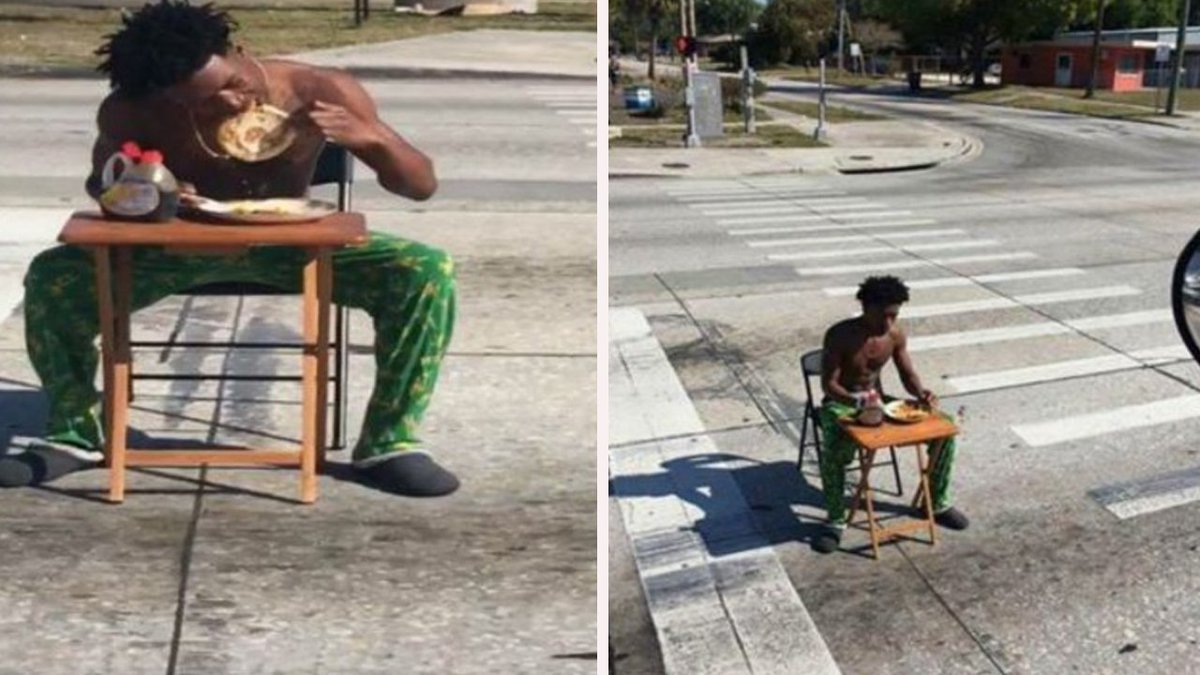 Florida man charged for eating pancakes in middle of the road https://t.co/hqMHVxoXw0
