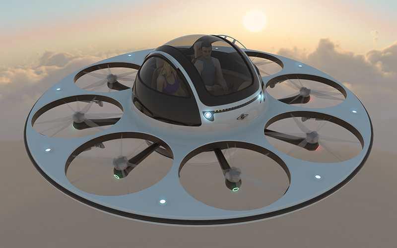 UFO DRONE SEATS TWO...