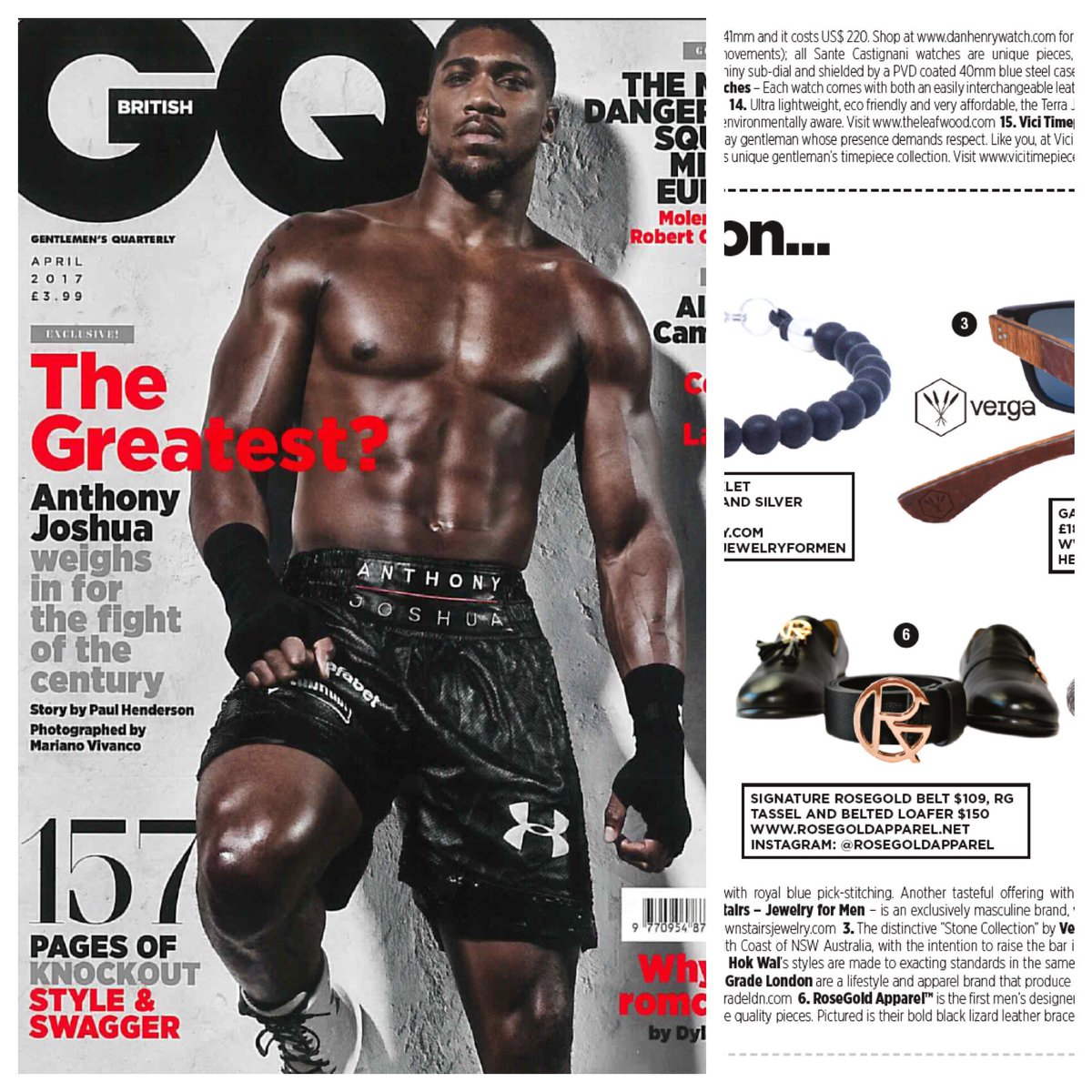 RoseGold Apparel™ in GQ&#39;s April Issue!  #rosegoldapparel #rosegold #apparel #mens #designer #menstyle #fashion #Mensfashion #shoes #belt<br>http://pic.twitter.com/jGRO3tLMpR