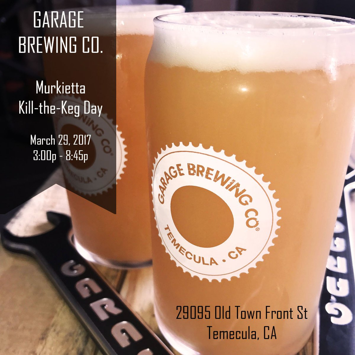 "garage brewing co on twitter: ""join us march 29th from 3p-8:45p"