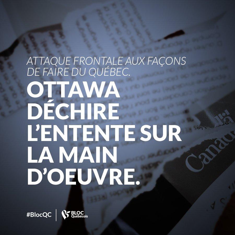 Le gouvernement de @JustinTrudeau déchire l&#39;entente sur la formation de la main d&#39;oeuvre. Il renie sa signature! #polcan #polqc<br>http://pic.twitter.com/9ihTWExcp3