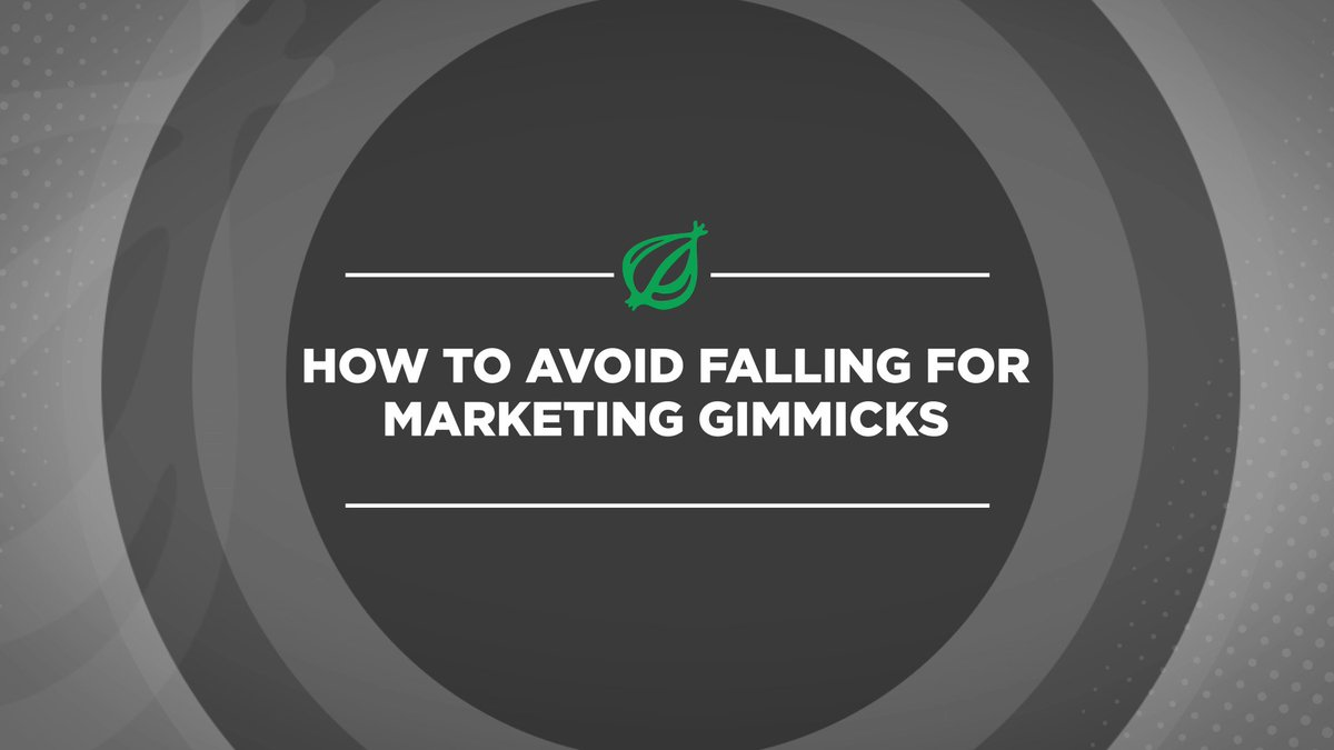 How To Avoid Falling For Marketing Gimmicks