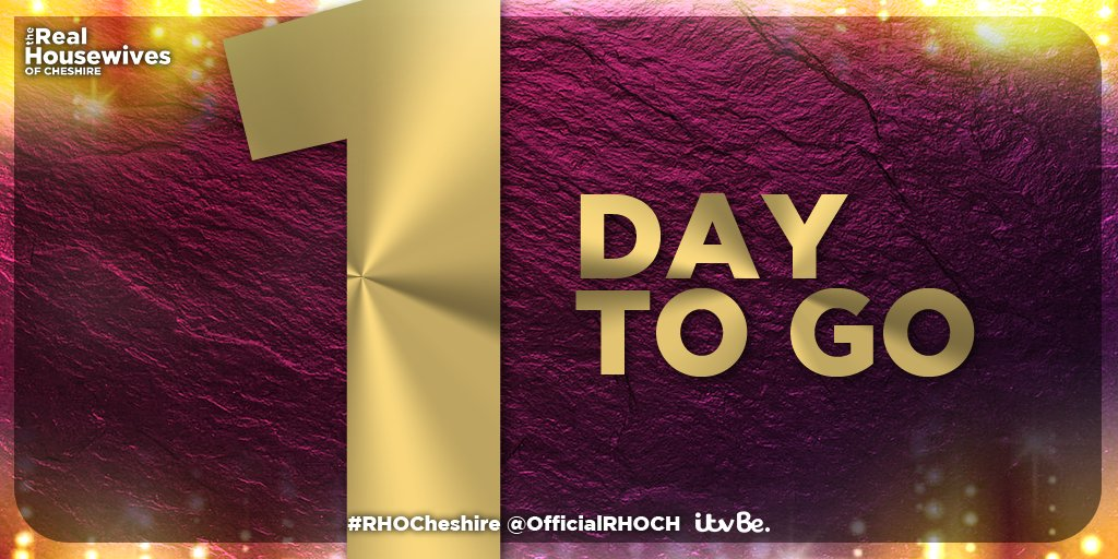 Just ONE MORE DAY!!! #RHOCheshire https://t.co/xltRXDleZR