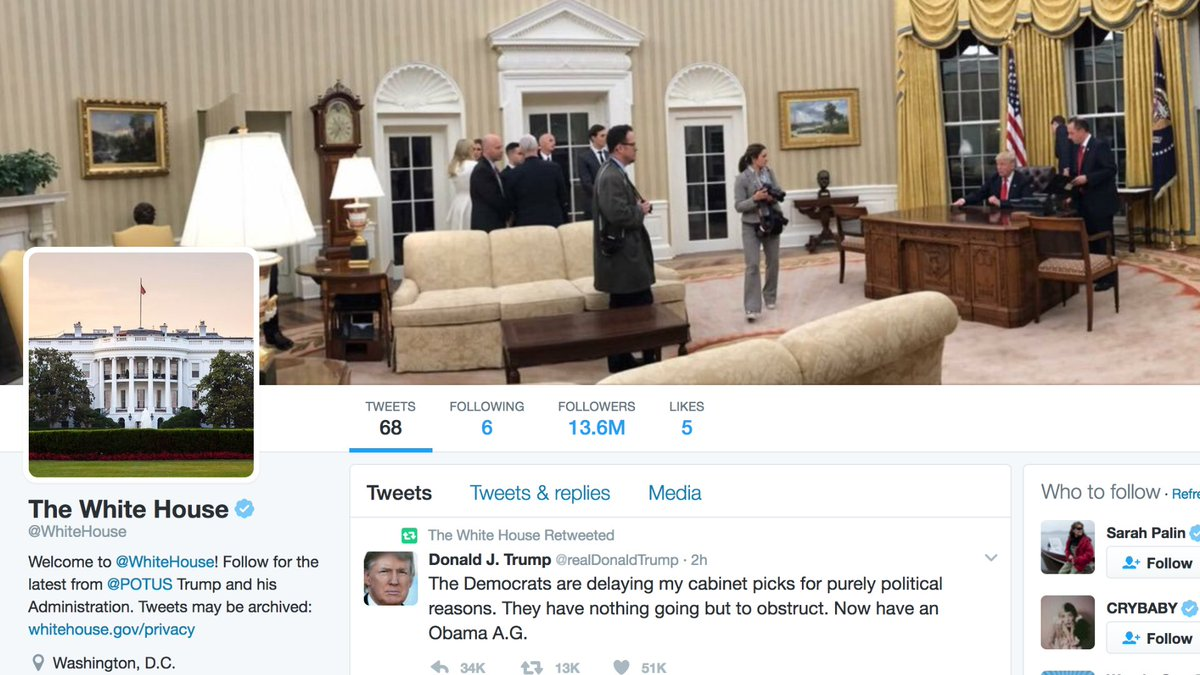 Jacksfilms On Twitter I Fixed The White House S Twitter Page New