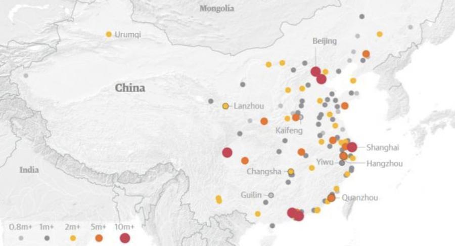 Chine : plus de 100 villes dépassent le million d&#39;habitants  https:// limportant.fr/infos-monde/3/ 360359 &nbsp; …  #Monde <br>http://pic.twitter.com/rjh8hD9cgq