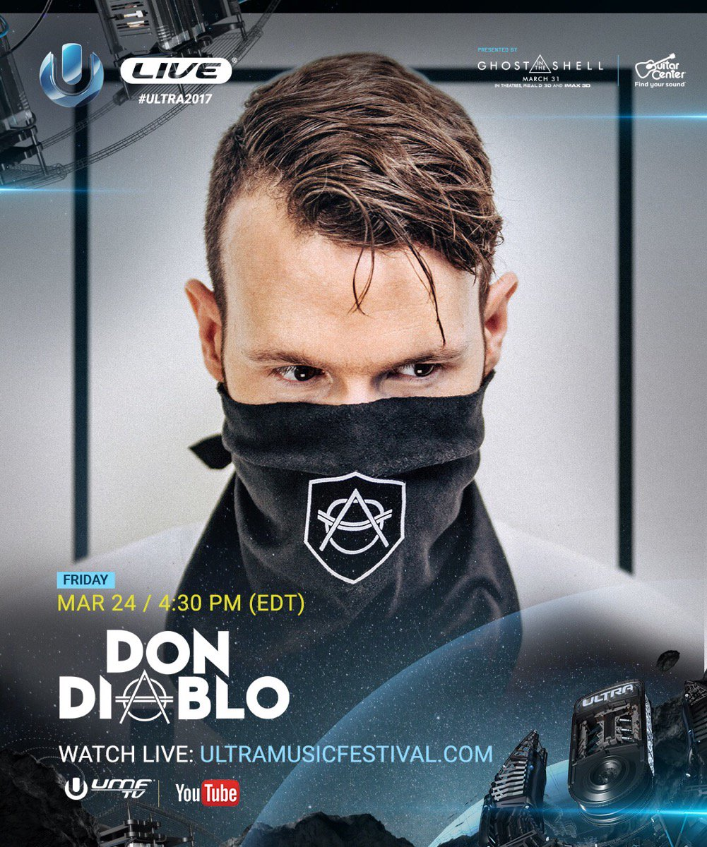 Don Diablo is now LIVE from the Main Stage at #Ultra2017  Tune in: htt...