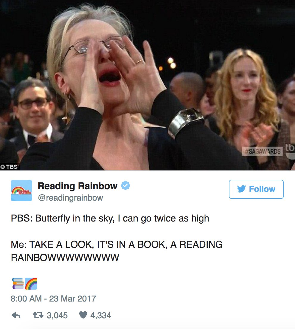 .@readingrainbow Made A Meryl Streep Meme And People Think It's The Best One buzzfeed.com/tanyachen/iiii…