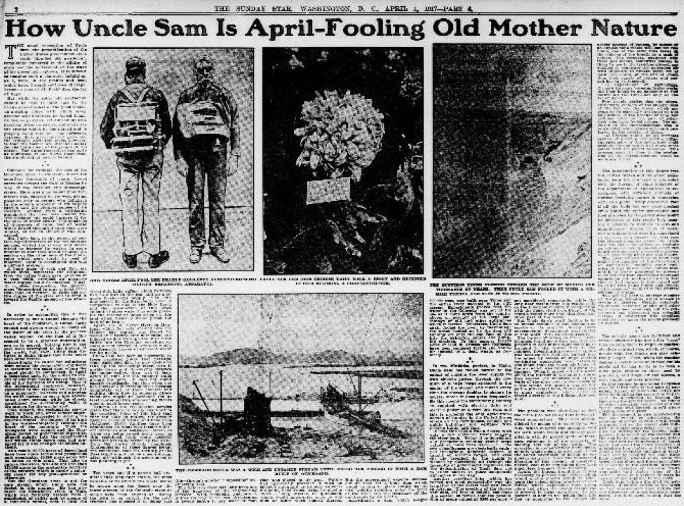 April Fools jokes on Mother Nature? The Washington Star thought so in 1917… https://t.co/pR3r9EDA2F #ChronAm https://t.co/vp84uCDOJ7